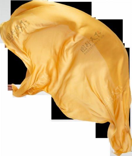 金色飘带绸布飞舞图片