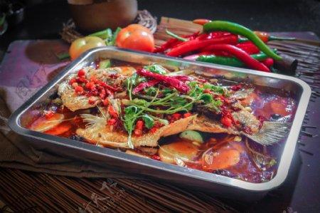 中餐重庆烤鱼图片