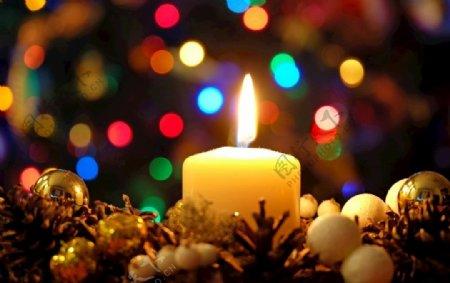 圣诞蜡烛图片