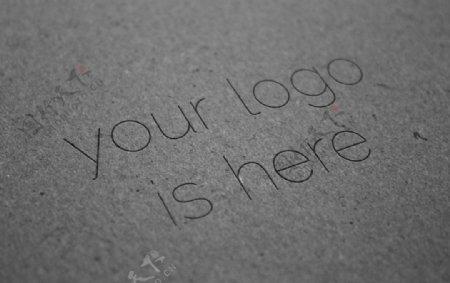 灰色背景LOGO样机图片