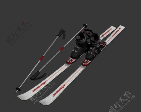 滑雪板3D模型图片