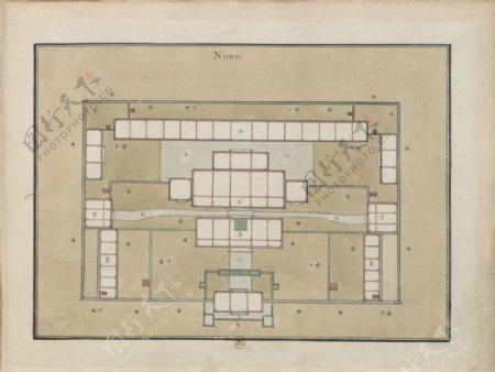 古代平面图图片