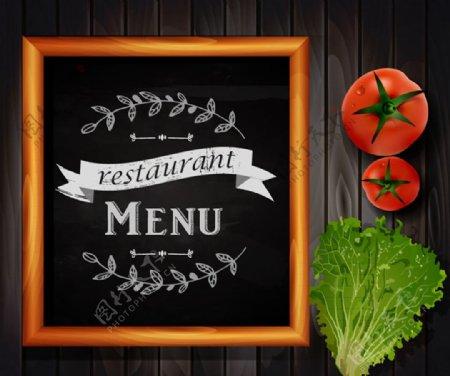 黑板菜单矢量图片