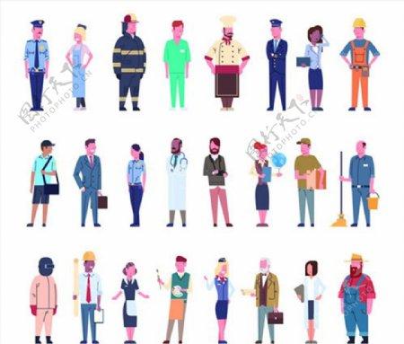多行业卡通人物图片