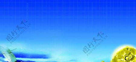 蓝色背景蓝色展板科技背景图片