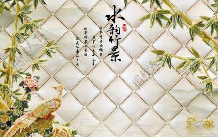 软包竹子背景图片