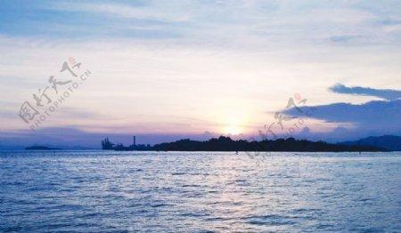 大海日落图片