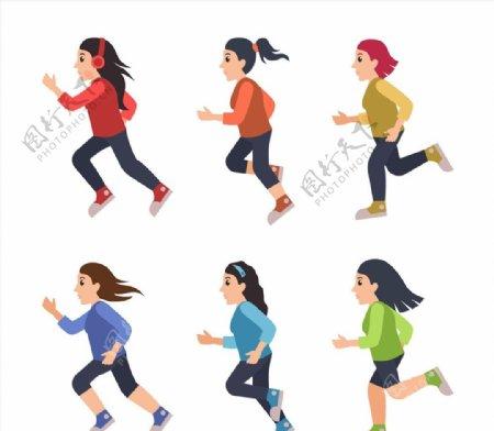 跑步健身女子图片