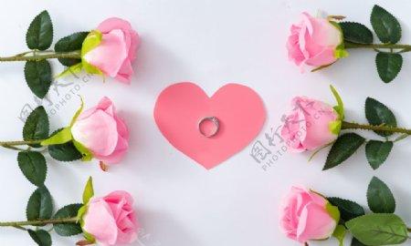 浪漫唯美粉色玫瑰图片