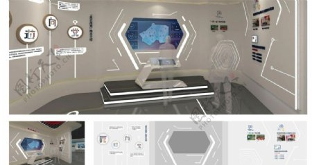 企业文化墙科技感图片