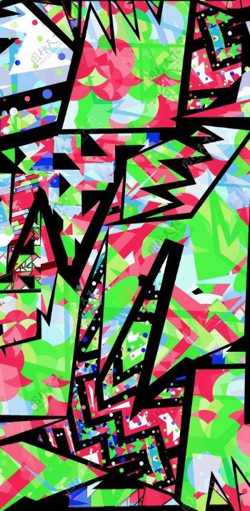 线条涂鸦抽象图案图片