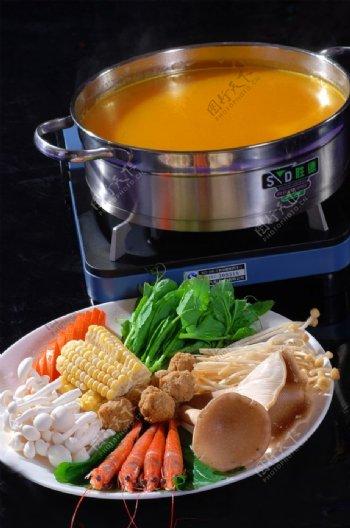 杂粮豆捞锅图片