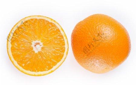 新鲜的切片脐橙图片