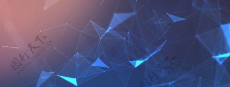 蓝色梦幻科技感背景图片