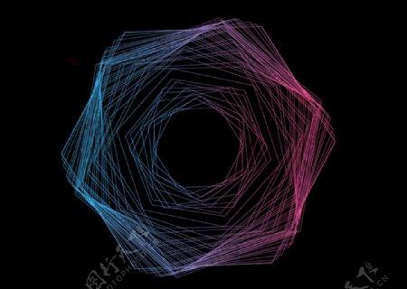 高级渐变立体几何图片