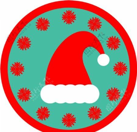 圣诞节帽子贴纸图片