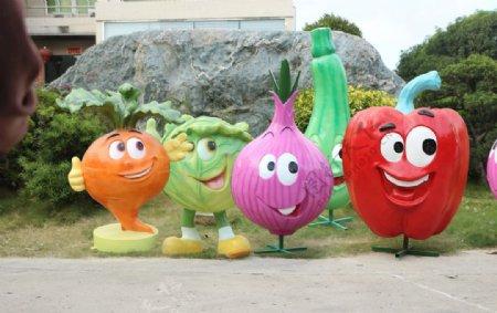 蔬菜雕塑图片