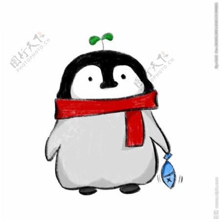 卡通呆萌企鹅图片