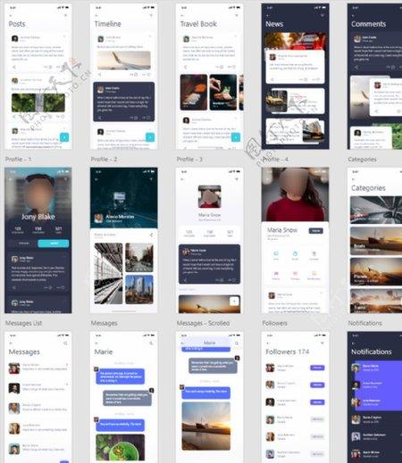 xd社交app聊天对话沟通交友图片