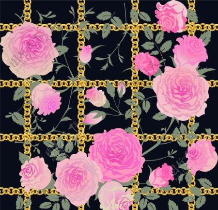 红花链条方巾图片