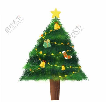 树木装饰圣诞元素图片