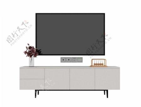 电视墙柜子3d模型图片
