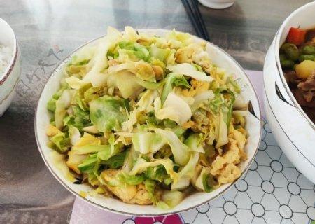 卷心菜炒鸡蛋图片
