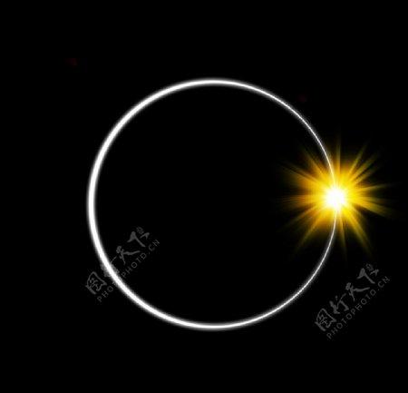 光线炫光光芒圆月亮图片