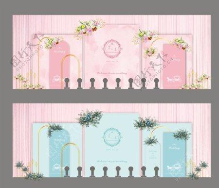 婚礼背景婚庆舞台背景图片