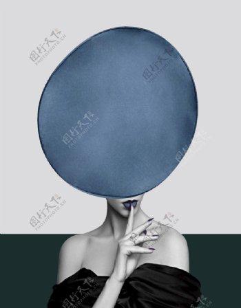 个性轻奢艺术女人图片