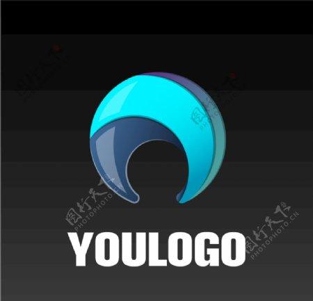 科技圆形logo图片