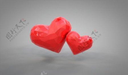 C4D模型爱心图片