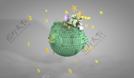 C4D模型小王子星球图片