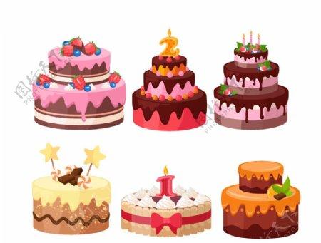 生日蛋糕矢量图图片