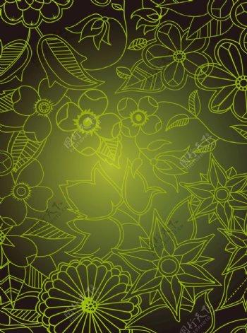 花卉背景素描线图片