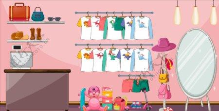 卡通服装店图片