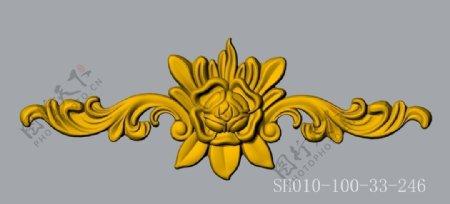建筑装饰浮雕花SH010DWG图片