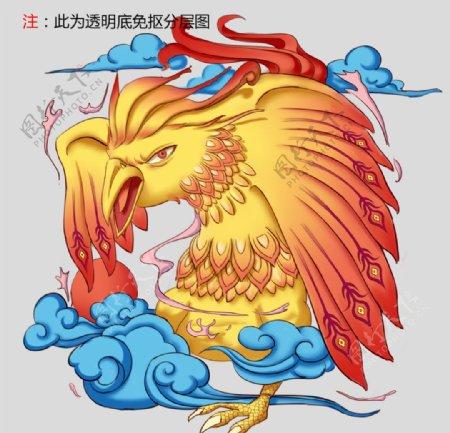 神兽麒麟手绘中国传统图片