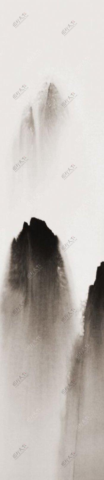 水墨山水打印版高清图片