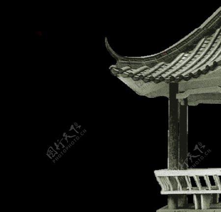龙柱屋檐凉亭免抠PNG图片