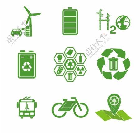 绿色能源图标图片