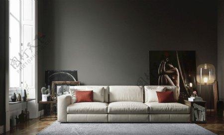 现代客厅沙发背景图片