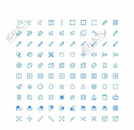 100个设计UI图标图片