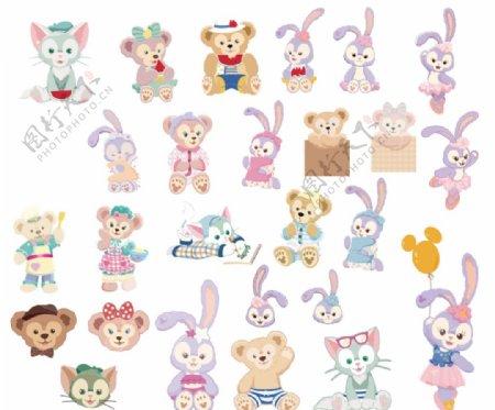 星黛露迪士尼卡通兔子图片