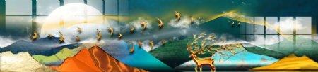 抽象山水画图片
