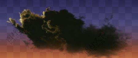 夕阳云乌云黑云云图片