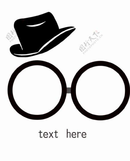 帽子与眼镜图片