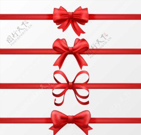 圣诞节蝴蝶结图片