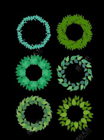 叶子花环图片