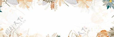 小清新树叶背景图片